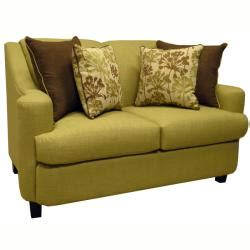 lansing lime green fabric sofa bed sleeper and loveseat