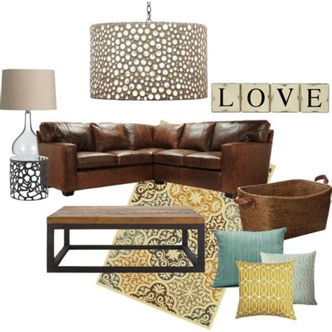 cozy brown leather sofa for yellow living room design 25 best ideas about brown leather sofas on pinterest