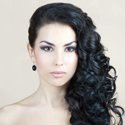 one sided black hairstyles curly prom hairstyles for long hair to the side