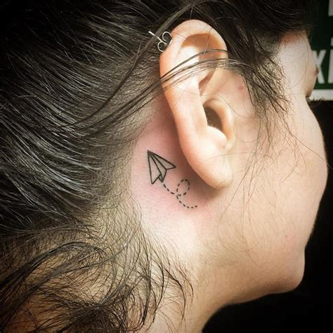 small plane tattoos 70 best the ear tattoos for