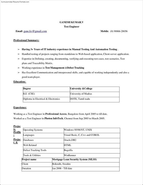ms word 2010 resume templates free sles exles