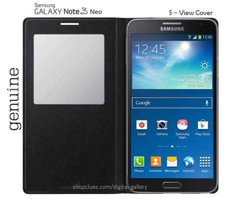 samsung galaxy note 3 neo n7505 s view flip cover black