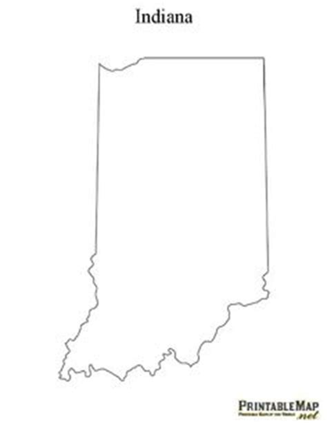 Indiana State Outline Clipart by 4 Best Images Of Individual States Printables 50 States And Capitals Flash Cards Printable