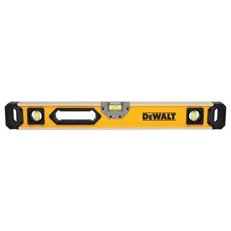 home depot paint levels dewalt 24 in magnetic heavy duty box beam level dwht43025