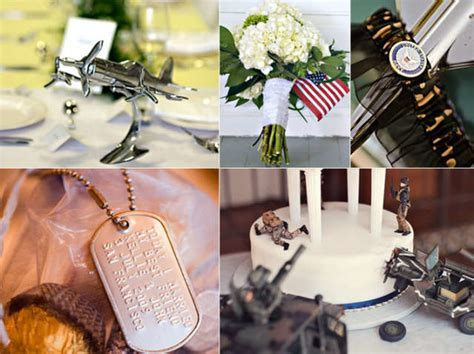 Inspiration Board: Adding a Military Touch   mywedding