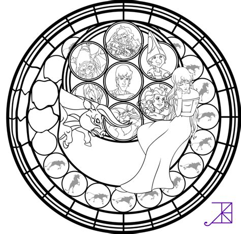 disney mandala coloring pages amalthea stained glass coloring page by akili amethyst