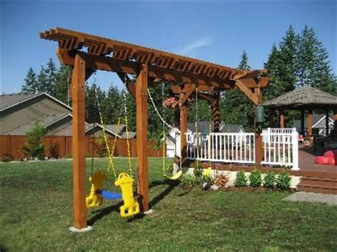 pergola swing set pergola with swing plans howtospecialist how build step pdf and arched arbor woodworking plan