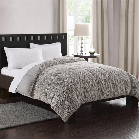 textured comforter colormate gray dual textured full queen quilted comforter