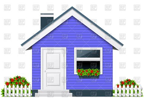 art for house blue country house with porch and chimney rural cottage
