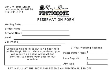 photo booth contract template magic mirror bridal show handouts mirror photo booth of