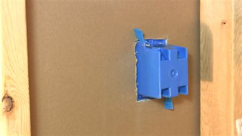 how to install a single switch box in drywall