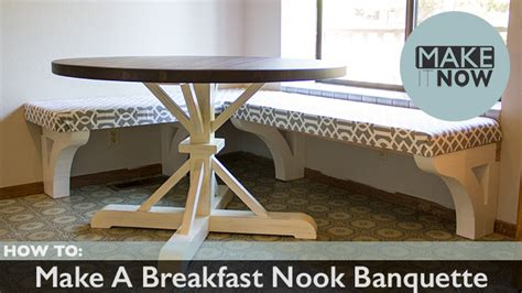 how to make a breakfast nook how to make a breakfast nook banquette makeitnow
