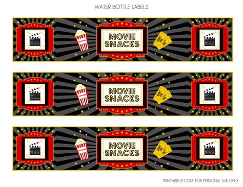 printable movie themed party decorations free movie night party printables by printabelle catch