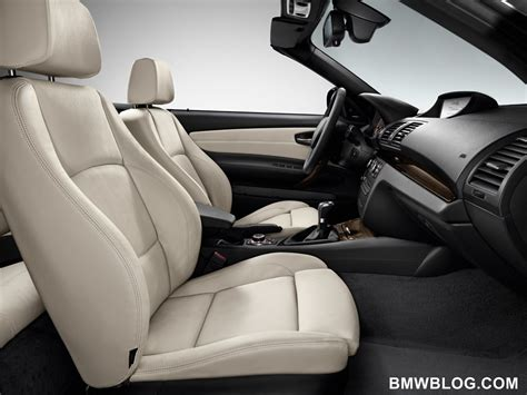 Bmw Leather Upholstery by World Debut 2012 Bmw 1 Series Convertible