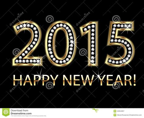 new year gold goat new year 2015 in gold with diamonds stock illustration