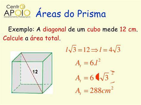 calcular a area da superficie de um cubo www aulasdematematicaapoio com matem 225 tica prismas e