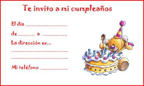 imagenes de invitaciones de cumpleaños bonitas invitaciones de cumplea 241 os para ni 241 os tarjetas de