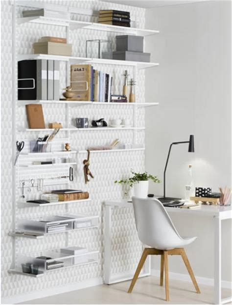home office desk and storage solutions elfa storage and shelving for desks and home offices