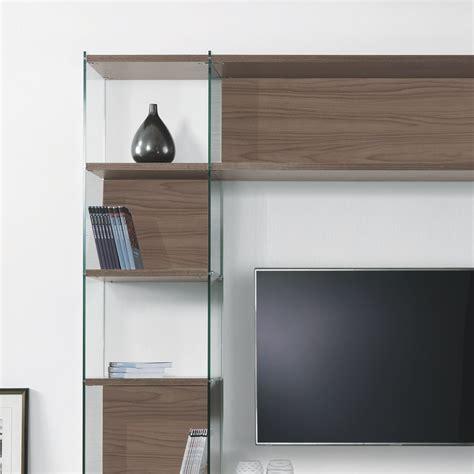 librerie da salotto libreria porta tv da salotto in laminato e vetro 220 x 200