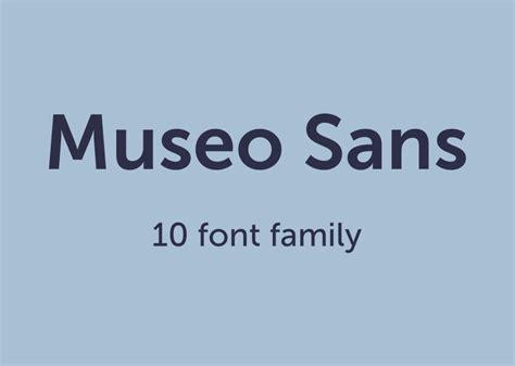 museo sans font family befontscom