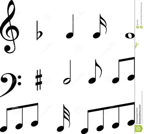 imagenes claves musicales s 237 mbolos de las notas musicales ilustraci 243 n del vector