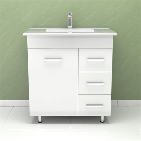 White Bathroom Sink Vanity Units Modern High Gloss White Bathroom Furniture Vanity Storage