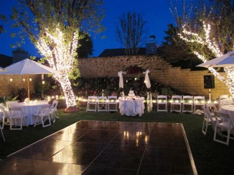 backyard reception wedding flower wedding candles wedding decorating