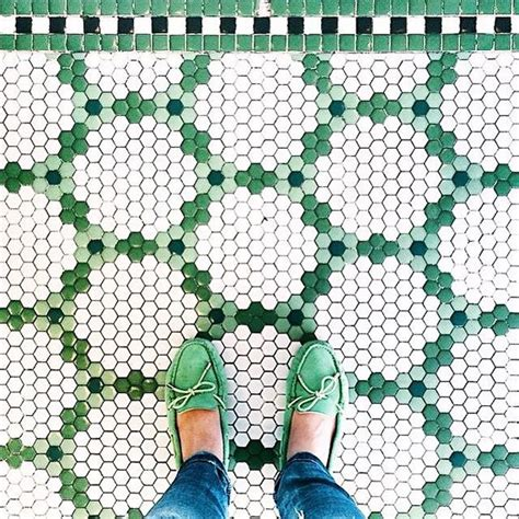 green patterned tiles i have this thing with floors the hex tile chapter