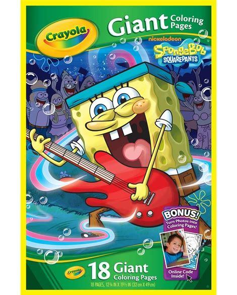 crayola giant coloring pages spongebob squarepants paper pads