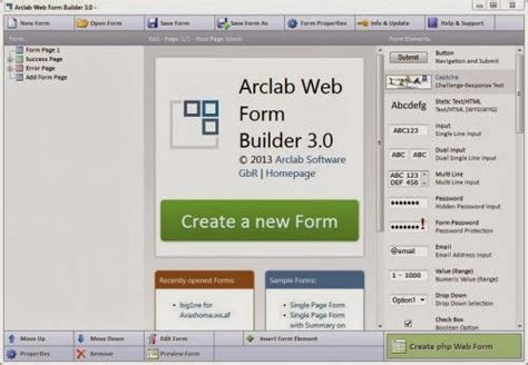 and softwares arclab web form builder 3 11