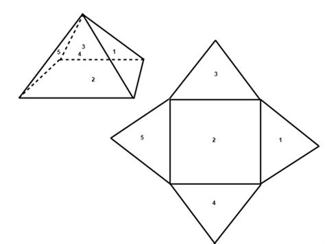 How To Make A Three Sided Pyramid Out Of Paper - the surface area and the volume of pyramids prisms