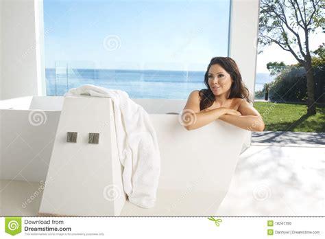 model in bathtub asian model in bath stock photo image 18241750