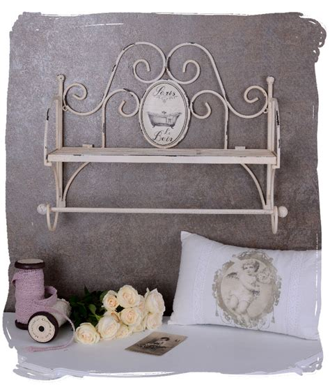 hanging shelf shabby white bathroom shelf towel rack
