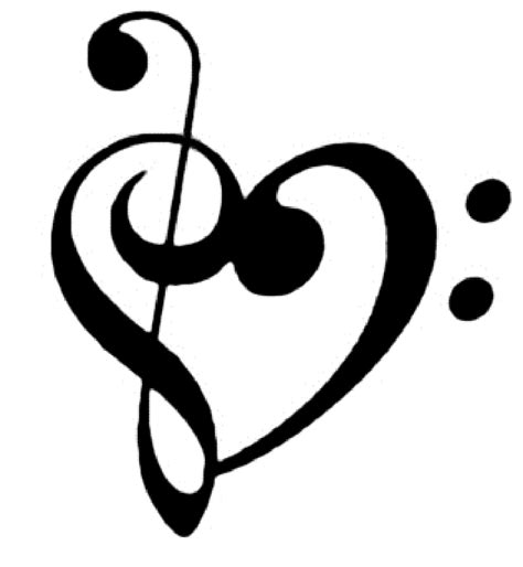 music note heart tattoo designs clef note apexwallpapers