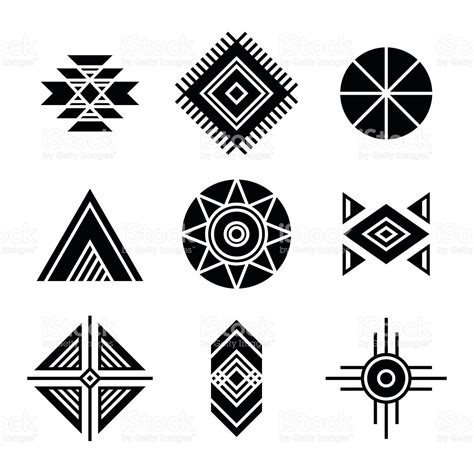 native american indians tribal symbols stock vector art