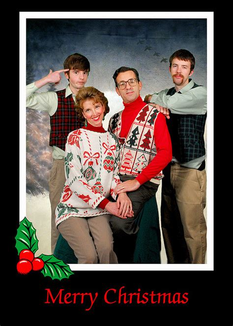 funniest family christmas portraits   time pleated jeans