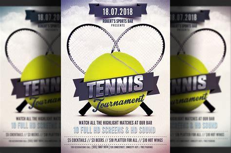 tennis templates free tennis flyer template flyer templates creative market