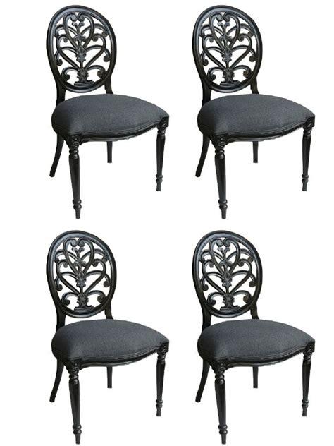 chaise style baroque 4 chaises baroque en acajou massif laqu noir meuble de style