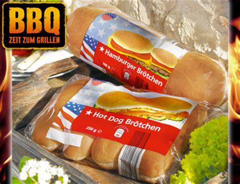 american hamburger oder hot dog broetchen von aldi sued