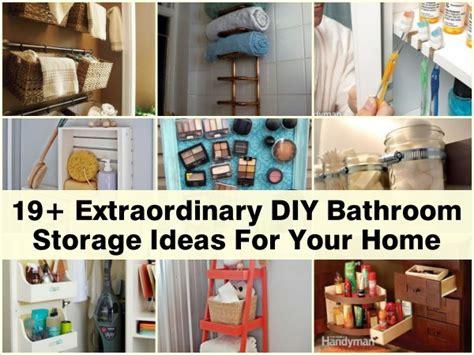 ideas for bathroom storage 19 extraordinary diy bathroom storage ideas for your home