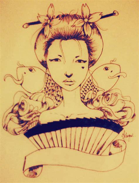 tattoo old school geisha geisha tattoo old school by hyuuugo on deviantart