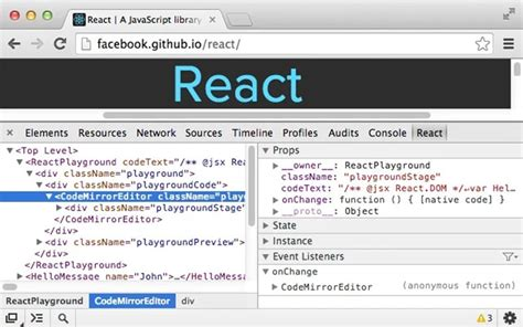 chrome react devtools add react js explorer to chrome with react developer tools