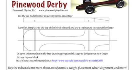 pinewood derby templates customizable pinewood derby car