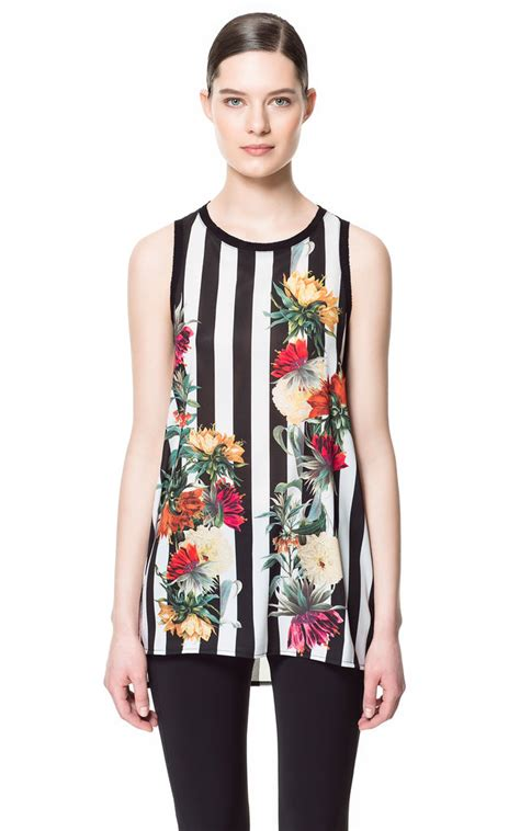 Fashion Zara 1 A 2 Top N 1 zara s stripe and floral combination top 36 would look