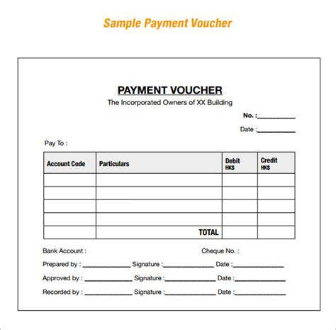 sample blank voucher template 13 documents download in word pdf psd