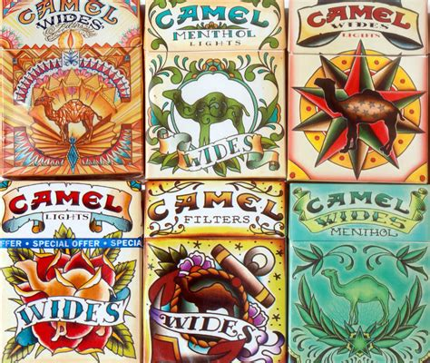 tattoo art camel cigarette packs