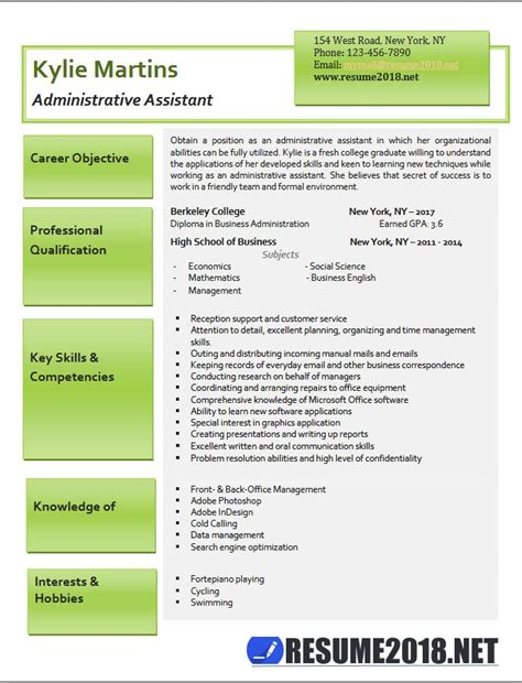 administrative assistant resume sles 2018 administrative assistant resume exles 2018 resume 2018