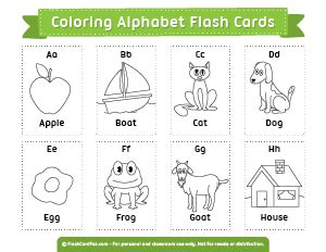 abc flash cards coloring pages printable flash cards
