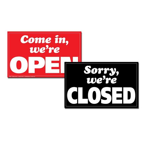 hillman 12 x 19 min jumbo sign we re open closed the