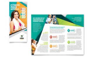 Personal Brochure Templates by Fitness Trainer Brochure Template Design